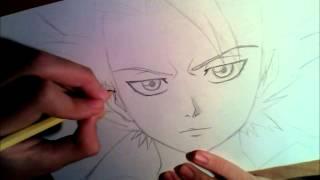 Speed drawing Toshiro Hitsugaya- Bleach