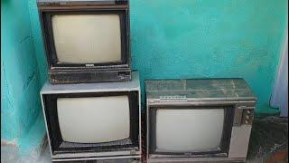Garimpo: TVs antigas achadas no ferro velho (Philips Trendset, Sharp ShotVision)