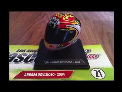 (21) 1/5 Dovizioso 2004, MotoGP Helmet.