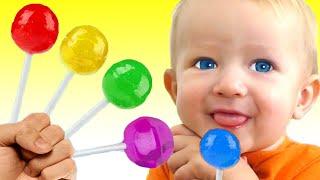 Canción de Color de la familia del dedo + otras Canciones Infantiles con Katya y Dima