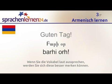Lernen Sie Die Wichtigsten Wörter Auf Armenisch