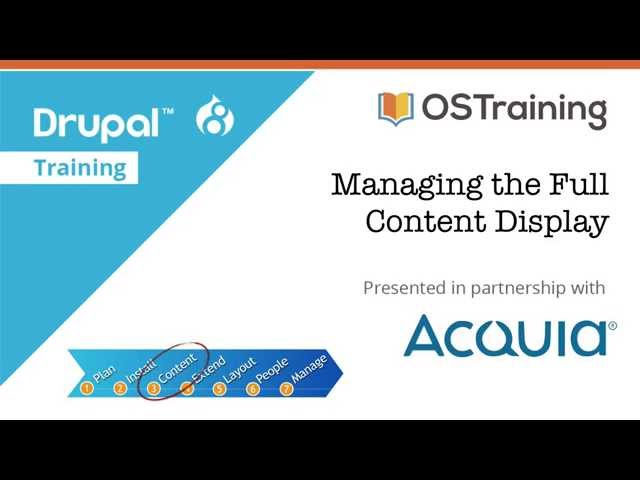 Drupal 8 Beginner, Lesson 35: Managing the Full Content Display