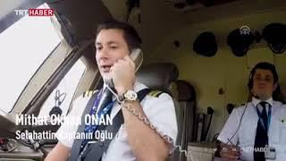 Сын-пилот поздравляет отца в самолёте на день учителя.