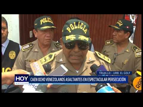 Caen ocho venezolanos asaltantes en espectacular persecución