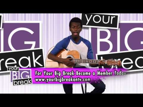 Singer Tim Johnson Jr. performing on Your Big Break on TV!