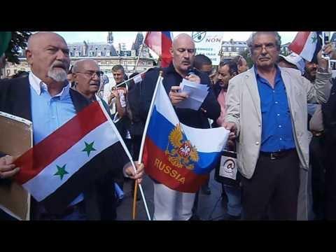 08/09/2013 Paris Manifestation franco-syrien NON A LA GUERRE EN SYRIE