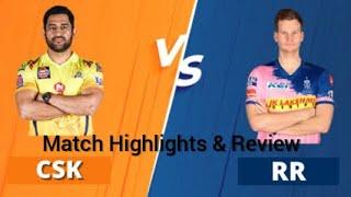IPL 2020 CSK vs RR Match Highlights & Review Chennai Super Kings vs Rajasthan Royals #ipl #ipl2020