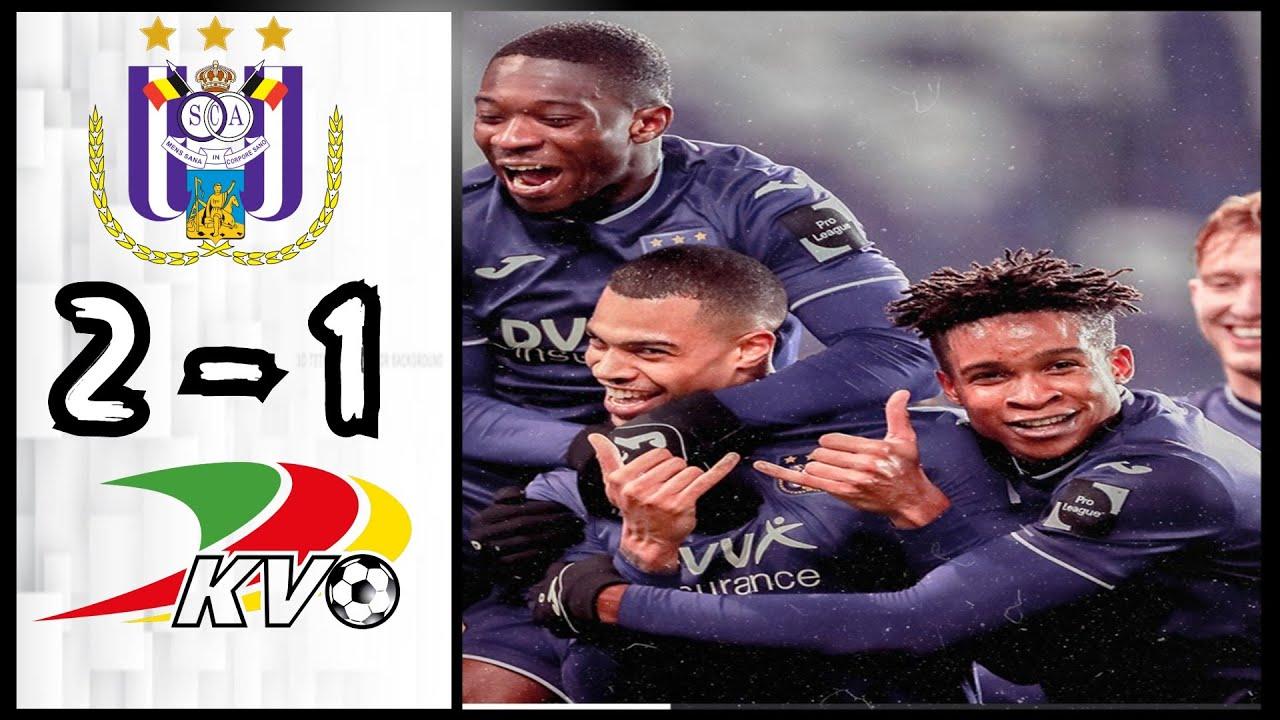 Rsc Anderlecht 2 1 Kv Oostende Samenvatting Jupiler Pro League Youtube
