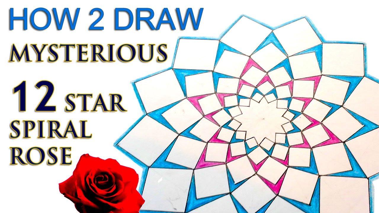 How 2 draw mandala the 12 star spiral rose sacred geometry youtube premium ccuart Choice Image