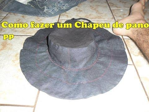 83c0ac2cf01ad como fazer um chapeu de pano pp (parte 1) - YouTube