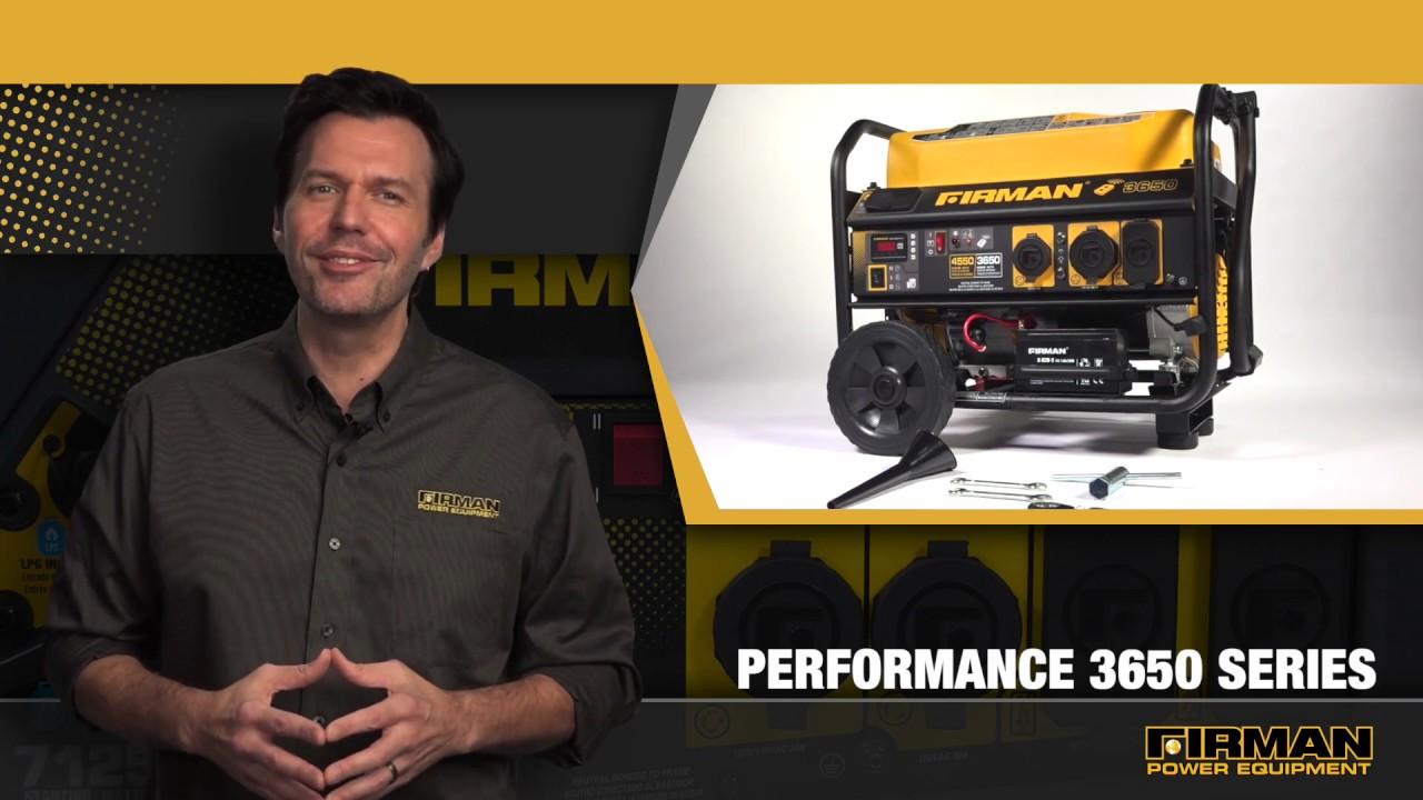 P03608 - Firman 4550/3650 Watt Gas Remote Start Generator