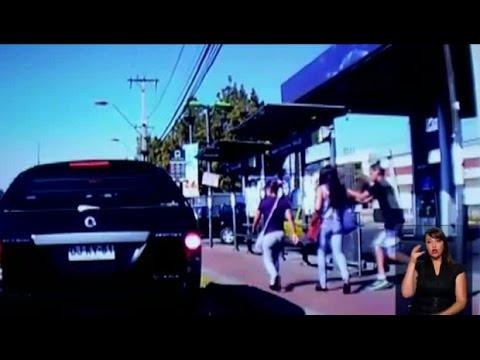 Video muestra cómo lanza roba celulares en La Cisterna - CHV NOTICIAS