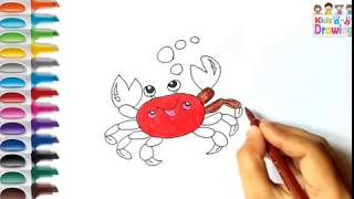 How to draw a Crabs /coloring pages for kids