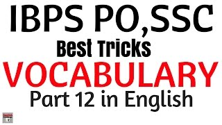 vocabulary FOR bank po | Fully Explained in English | 250 Words