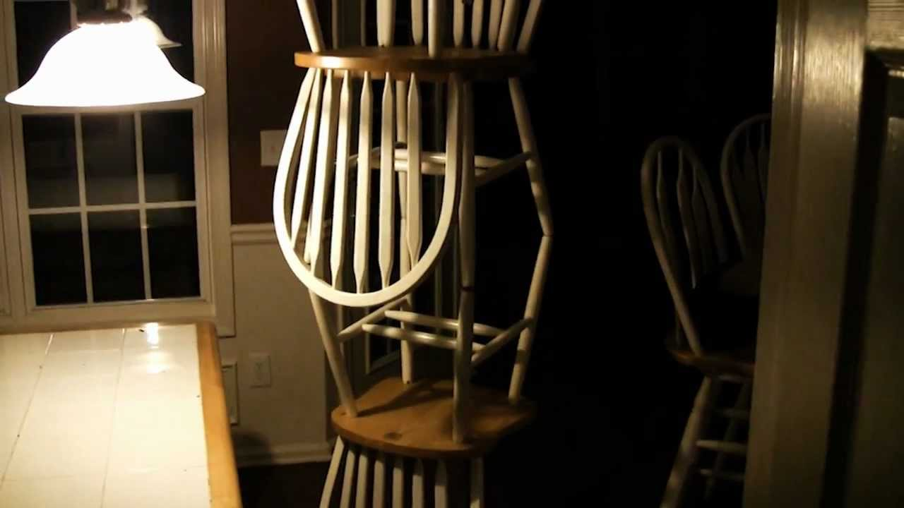 Poltergeist stacks chairs in kitchen youtube - Reasons why you need stacking chairs ...