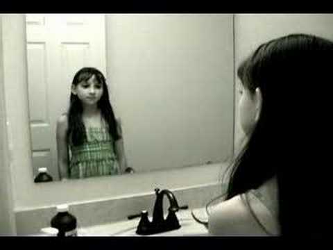Creepy Grudge Ghost Girl in the Mirror! - YouTube