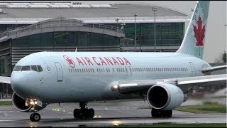 Air Canada Boeing 767 Soaking Take Off at Dublin Airport