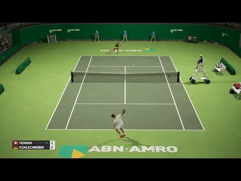 AO Tennis - Roger Federer vs Phillipp Kohlschreiber - ABN Amro Rotterdam - PS4 Gameplay