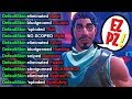 'When Pros Die to FAKE DEFAULTS' Fortnite Compilation!