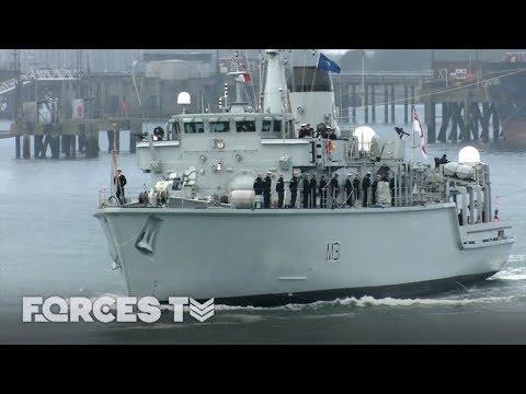 Royal Navy's Minehunter Sets Sail For NATO's Eastern Border   Forces TV