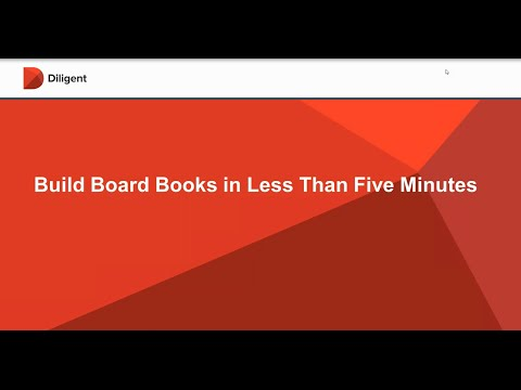 Build Board Meeting Books in Less Than Five Minutes