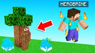 HIDE & SEEK but with HEROBRINE! (Minecraft)