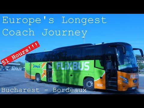 Europe's Longest Coach Journey   51 HOURS!!!   Flixbus Bucharest – Bordeaux