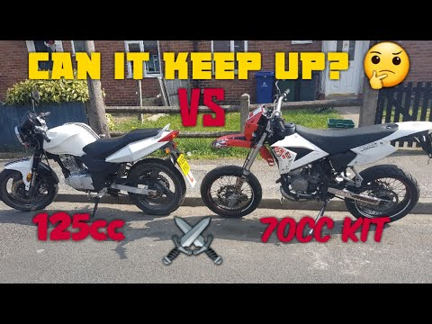 *CPI SM 50 with 70 kit vs 125cc* - Can it keep up? Supermoto