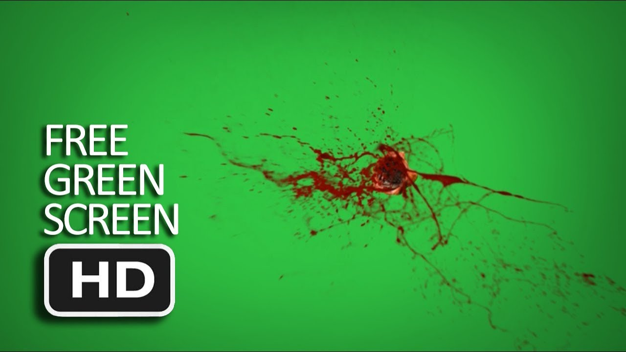 Free Green Screen - Bullet Hit Body Blood Effect