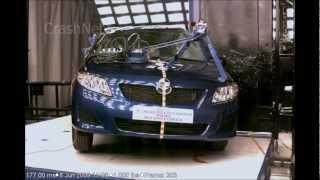 2010 Toyota Corolla   Pole Crash Test   CrashNet1