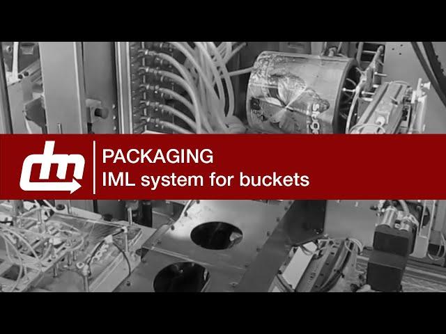 Sistema IML - Secchio 20l, 1 cavità   IML system - 20lt bucket , 1 cavity