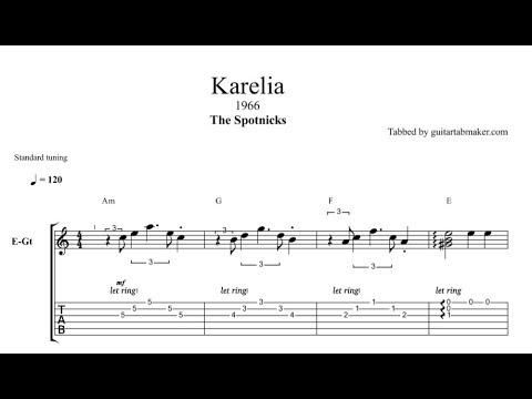 The Spotnicks - Karelia TAB - guitar instrumental tab - PDF - Guitar Pro