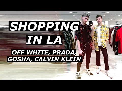 SHOPPING IN LOS ANGELES | Which OFF WHITE Bag should I buy? | Prada, Rhude, Gosha | Gallucks