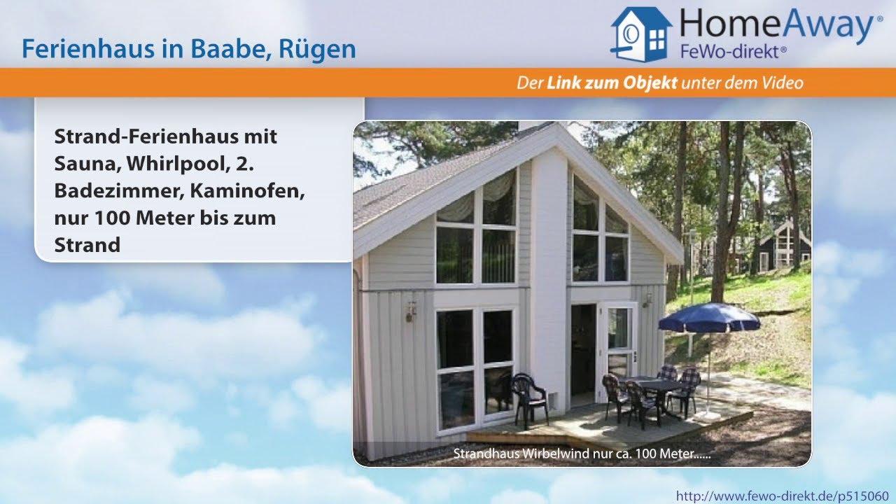 Baabe: Strand Ferienhaus Mit Sauna, Whirlpool, 2. Badezimmer, Kaminofen,  Nur   FeWo Direkt.de Video