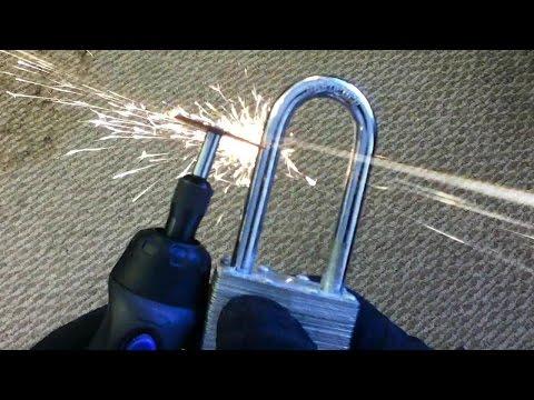Cordless Dremel Tool vs. Hardened Steel Padlock