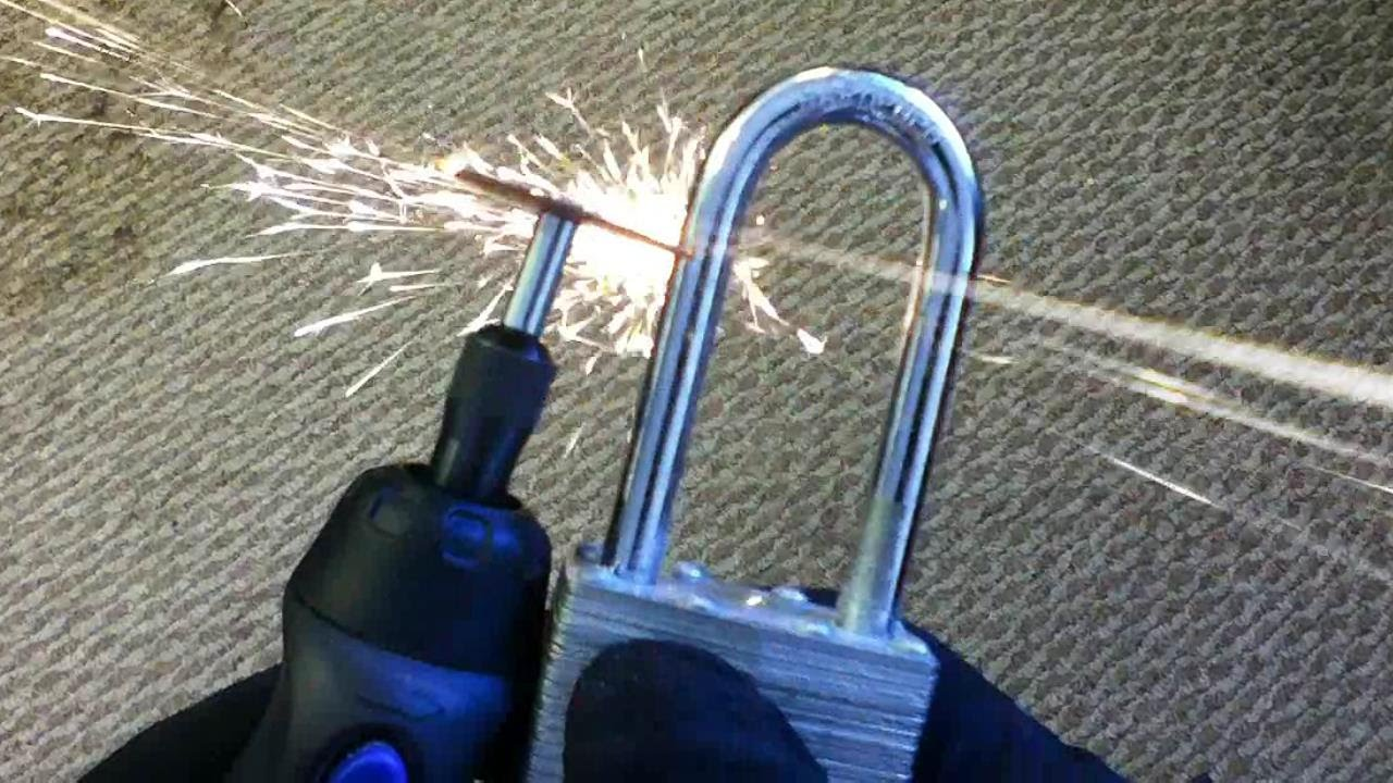 Cordless Dremel Tool Vs Hardened Steel Padlock Youtube