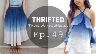 Ombre Ruffled Tank | Thrifted Transformations Ep. 49