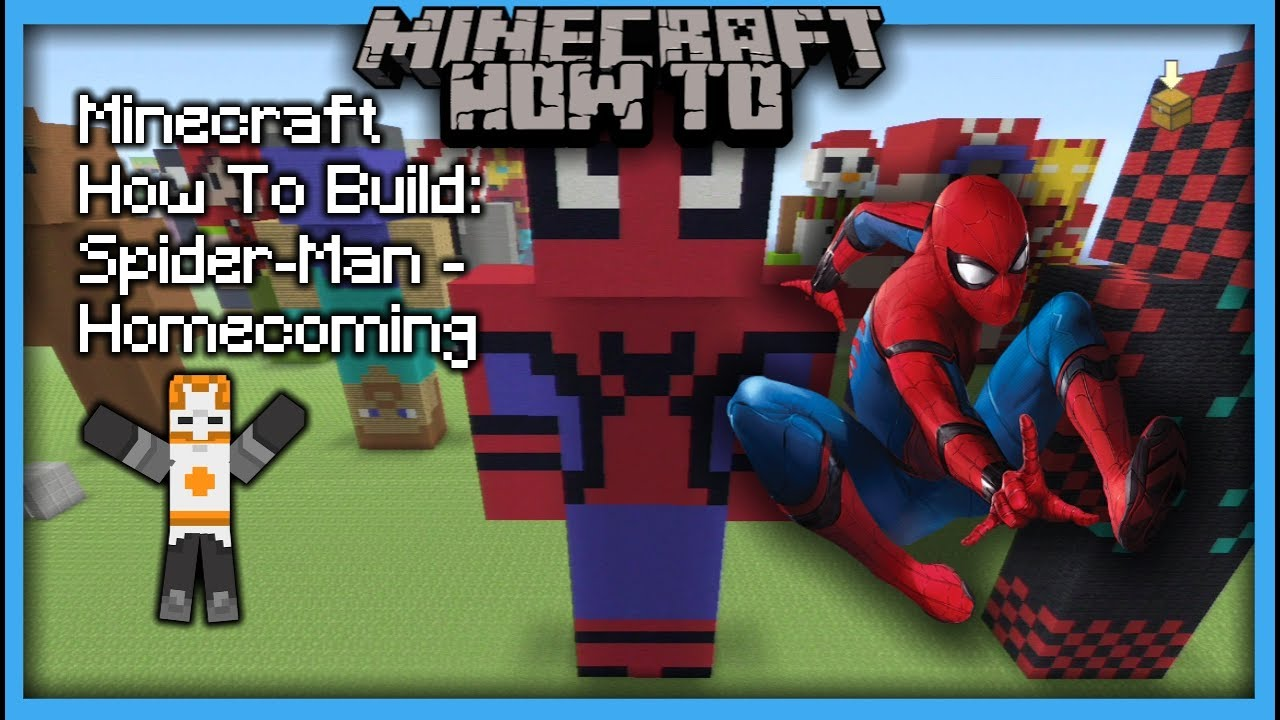 Minecraft How To Build Spider-Man - Homecoming (Statue) & Minecraft How To Build: Spider-Man - Homecoming (Statue) - YouTube
