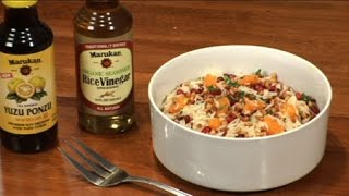Fragrant Basmati Salad, Pine Nuts And Pomegranate Seeds