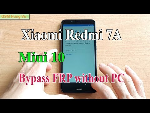 Redmi 7A FRP Bypass without PC on Miui 10.