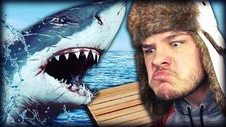 PSYCHO SHARK ATTACK!   Raft