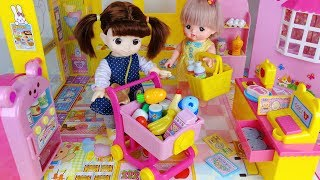 Baby Doll mart register and Refrigerator food surprise eggs toys play - 토이몽