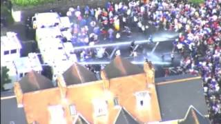 Loyalists attack police