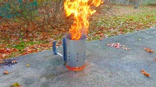 Charcoal Chimney Starter Unboxing  Review - Weber Rapidfire