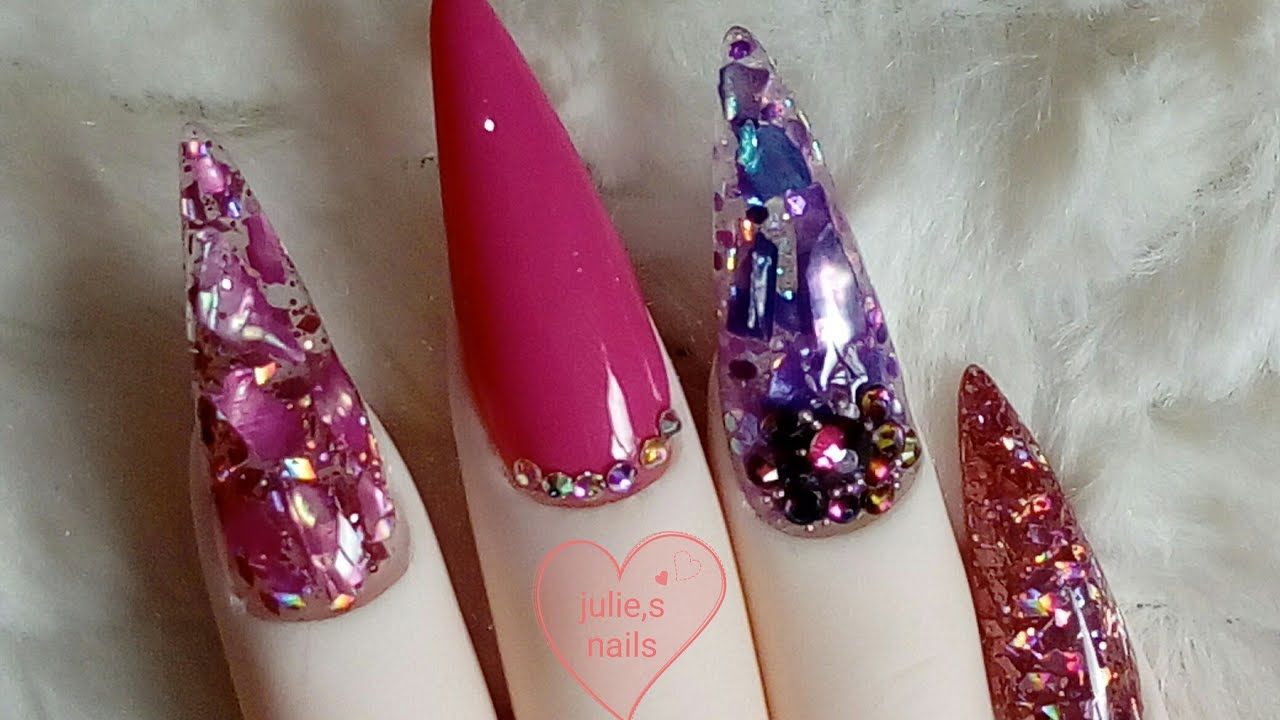 Crushed Shell Sea Shell Nail Art Youtube