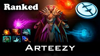 Dota 2 - Arteezy Invoker - Ranked Match