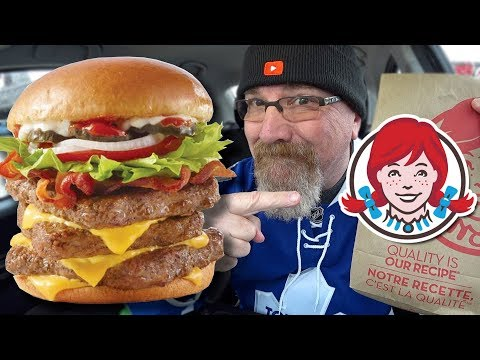 Wendy's 🍔🥓 Bacon Deluxe Triple Food Review