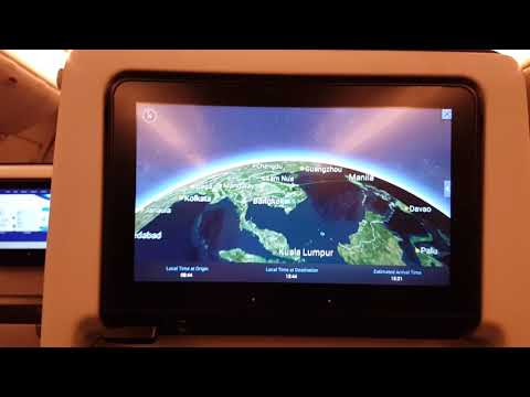 Kuwait Airways Voyager 3D Map Flight KU417 Kuwait to Manila, Philippines