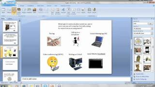 How to create a branching scenario within PPT