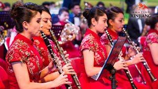 Live Xinjiang orchestra puts on performance to celebrate National Day AmazingXinjiang